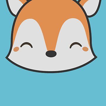 Kawaii Cute Fox by happinessinatee