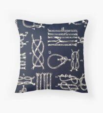 """""""Nautical Knots - NAVY""""© Throw Pillow"""