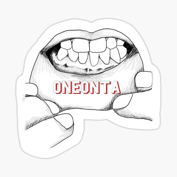 Oneonta-lip tattoo Sticker