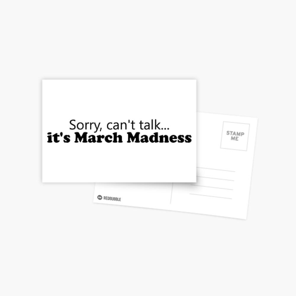 March Madness Postcard