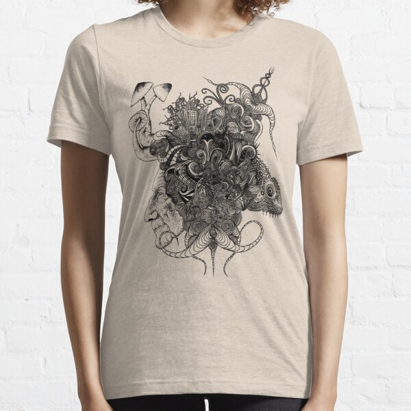 Psilocybinaturearthell Psychedelic Ink Illustration Essential T-Shirt