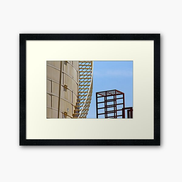 Steps and Cubes Framed Art Print