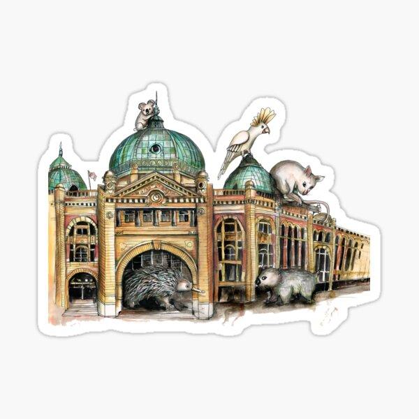 Flinders street station Melbourne Sticker