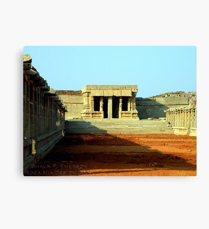 Ancient Courtyard Canvas Print