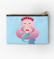 Mermaid Magic Girl with Floral Crown Studio Pouch