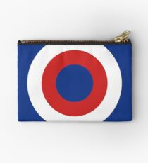 Circles Red White And Blue No.2 Studio Pouch