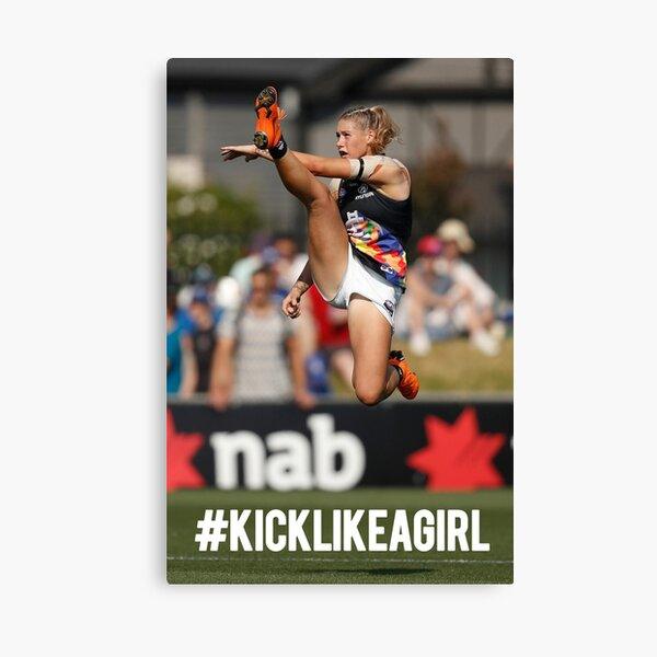 Kick Like A Girl Canvas Print
