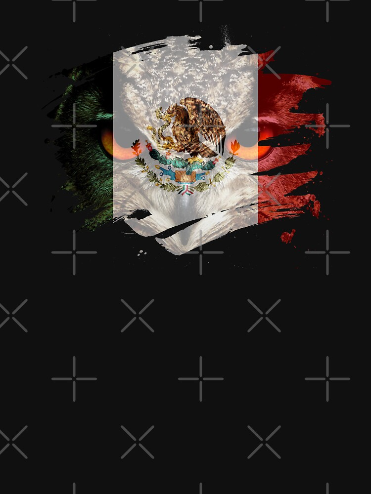Mexico Flag and Menacing Owl by ockshirts