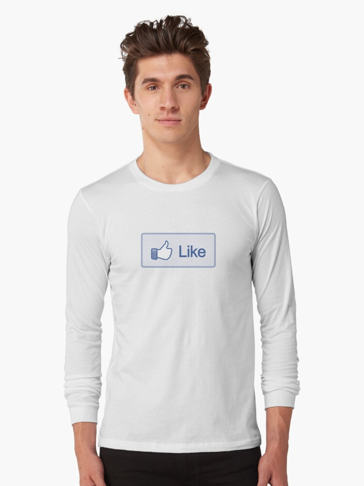 Like Button Long Sleeve T-Shirt by likebutton