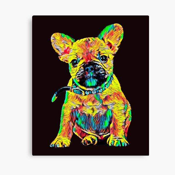 el francés Bulldog Flores Animal estrecho cortina de ducha
