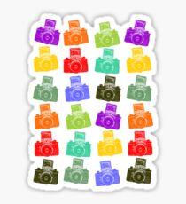 Colorful Cameras Sticker