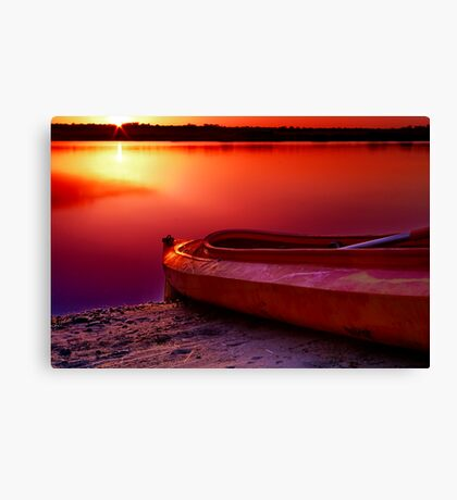"""Riverside Dawn"" Canvas Print"