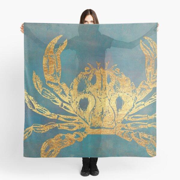 Deep Sea Life VI Golden Crab, ocean texture Scarf