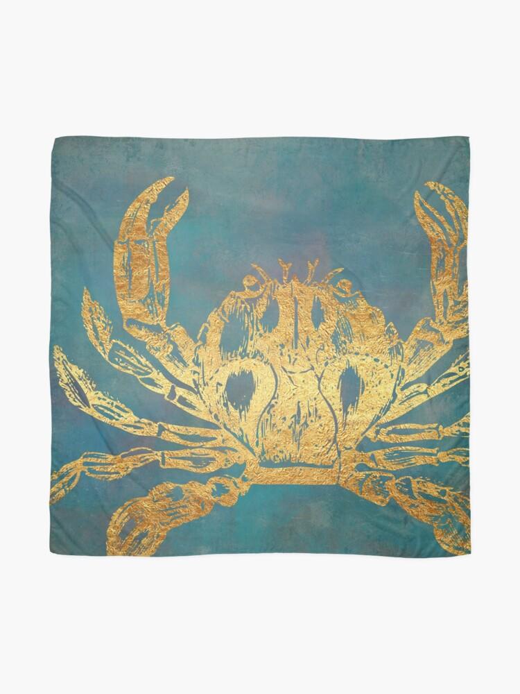 Alternate view of Deep Sea Life VI Golden Crab, ocean texture Scarf