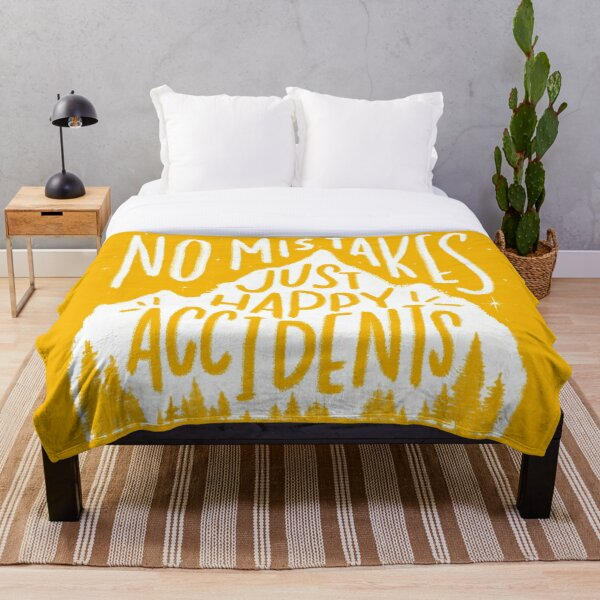 Sunny No Mistakes, Just Happy Accidents Throw Blanket