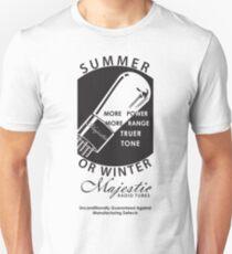 vintage radio tubes ad Slim Fit T-Shirt