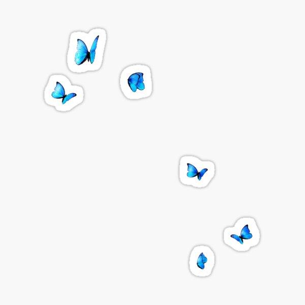 blue butterfliez Sticker