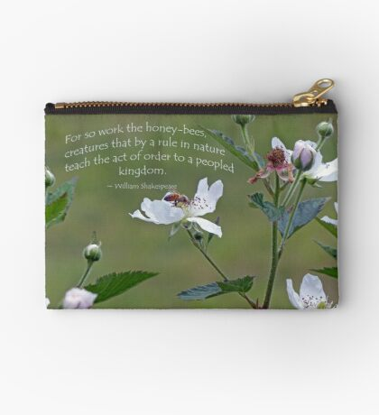 William Shakespeare saying Greeting Card Studio Pouch