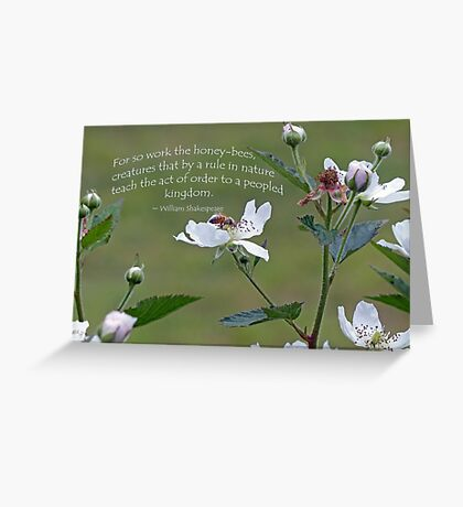 William Shakespeare saying Greeting Card Greeting Card