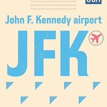 Airport code JFK New York 2 by Aviators