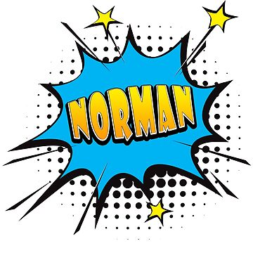 Comic book speech bubble font first name Norman by PM-Names