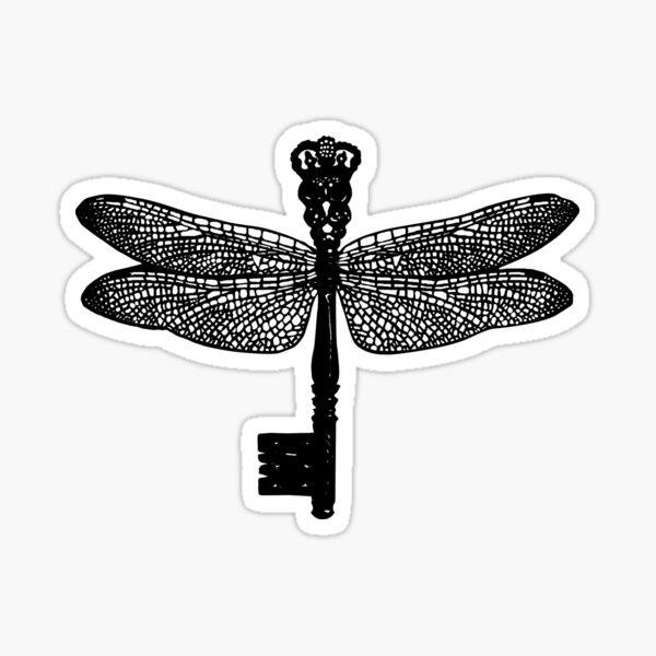 The Dragonfly Key Sticker