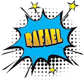 Comic book speech bubble font first name Rafael by PM-Names