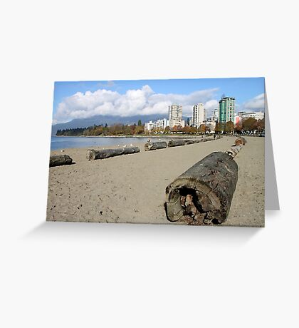 The Sands of English Beach, Vancouver City, Canada  Greeting Card