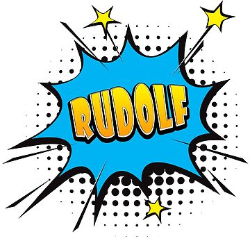 Comic book speech bubble font first name Rudolf by PM-Names