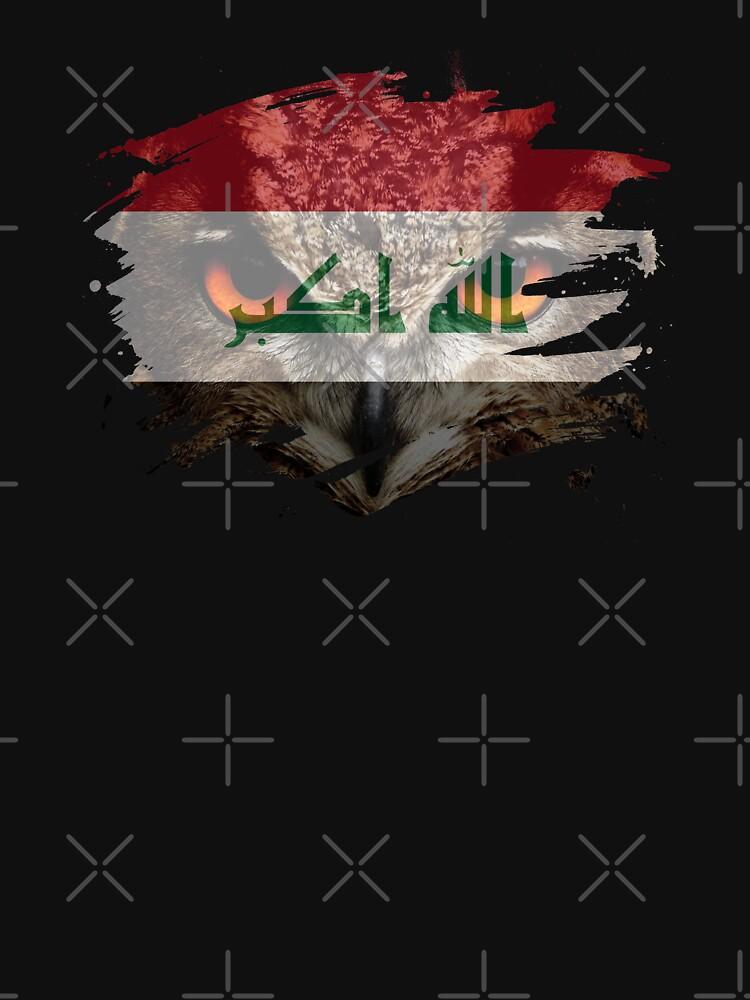 Iraq Flag and Menacing Owl by ockshirts