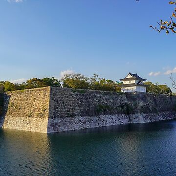 The moat around Osaka Castle, Osaka, Kansai, Japan by PhotoStock-Isra