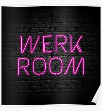 Neon Shop : Werk Room Poster
