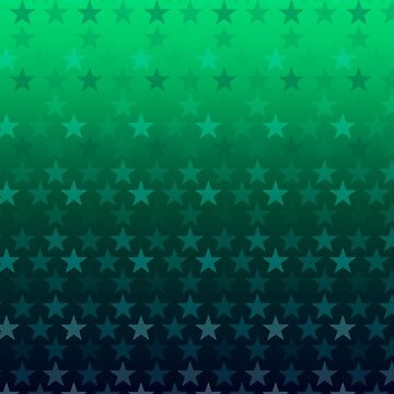 Green blue star pattern by Anteia