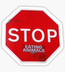 Stop Eating Animals T-Shirt Sticker