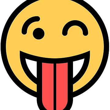 Smiley Face   Big Tongue Out And Squinting Joking Happy Face by DogBoo