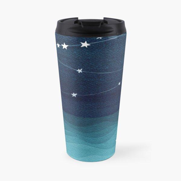 Garland of stars, teal ocean Travel Mug