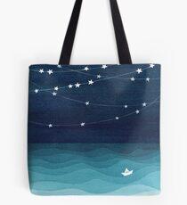 Bolsa de tela Guirnalda de estrellas, océano verde azulado
