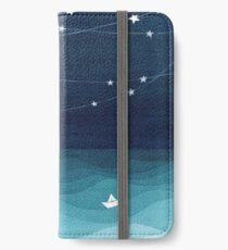 Garland of stars, teal ocean iPhone Wallet/Case/Skin