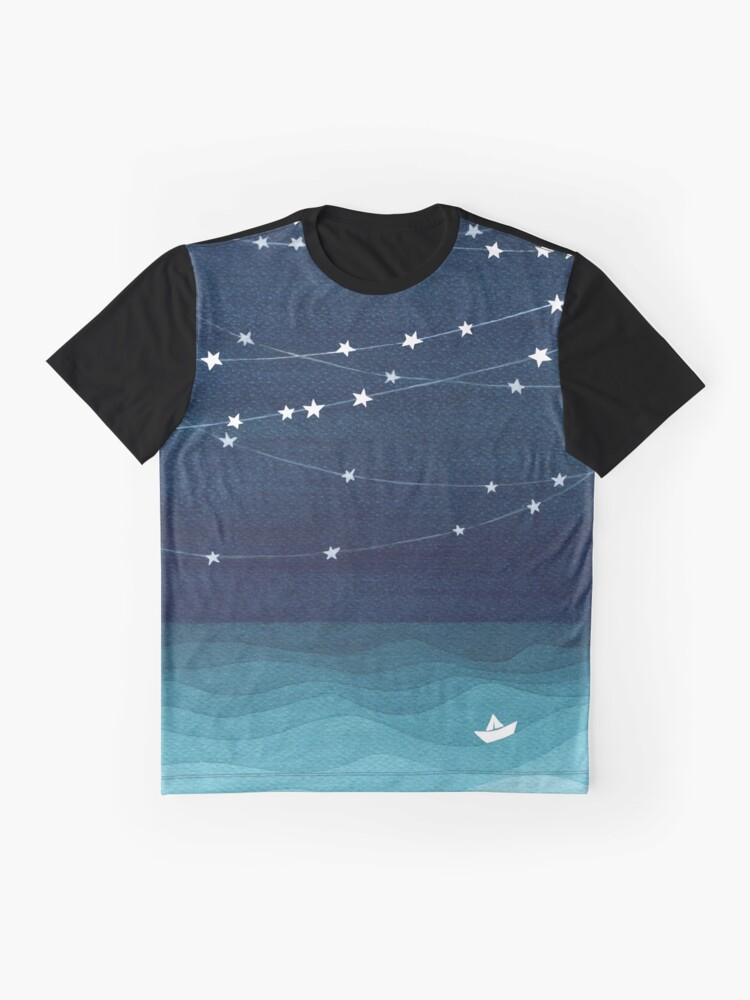 Alternative Ansicht von Garland von Sternen, aquamariner Ozean Grafik T-Shirt