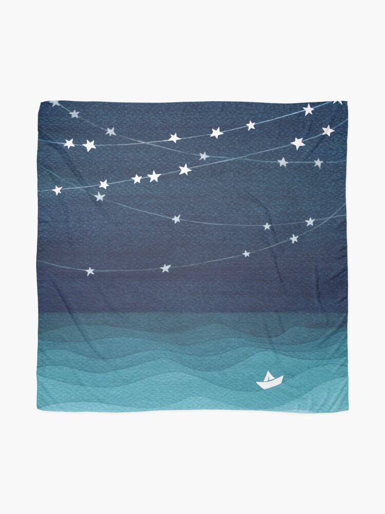 Alternative Ansicht von Garland von Sternen, aquamariner Ozean Tuch