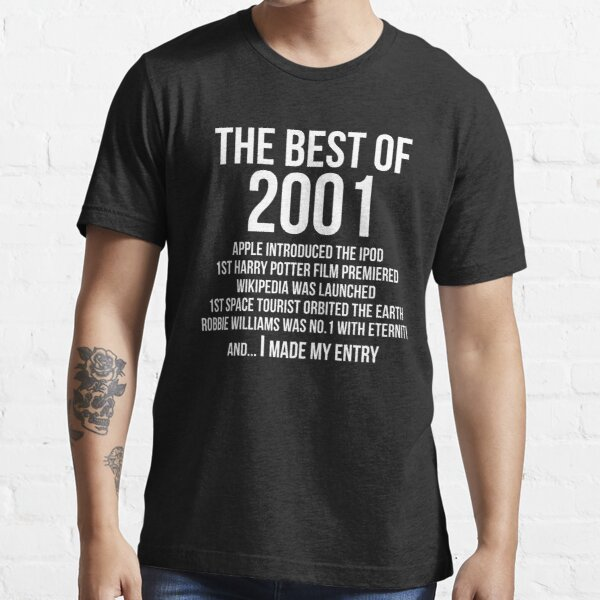 Funny Year 2001 18 Years Old 18th Birthday Essential T-Shirt