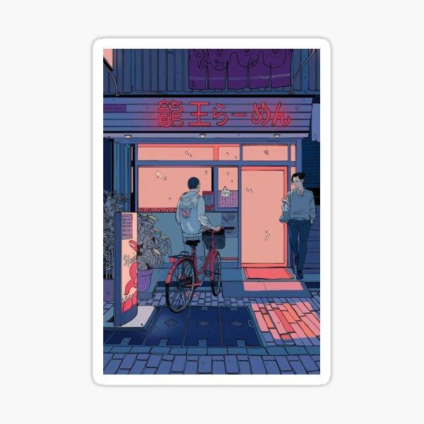 Lofi Anime Art Sticker