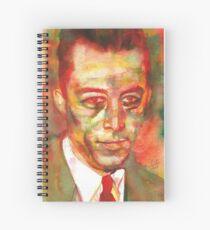 Cuaderno de espiral ALBERT CAMUS - retrato de acuarela.