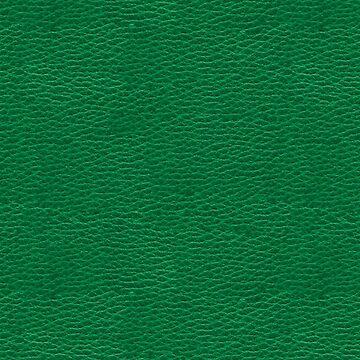 Green Faux Vegan Leather Look Pattern by jollypockets