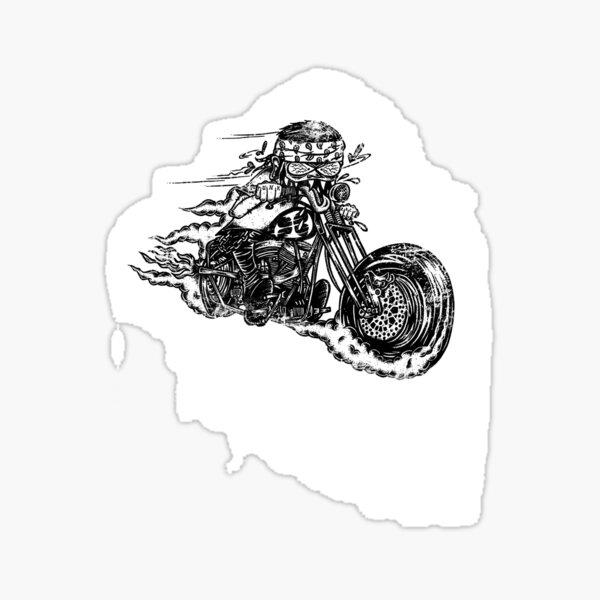 Bobber Old School AUTOCOLLANT STICKER MOTO BIKER CAFE RACER Vélomoteur Chopper OEM