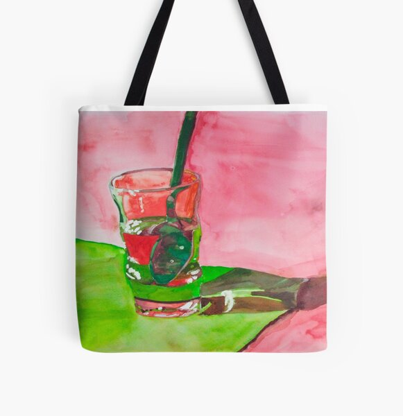 Glass and Spoon All Over Print Tote Bag