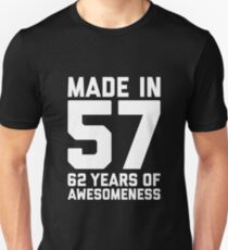 62nd Birthday Gift Adult Age 62 Year Old Men Women Unisex T Shirt