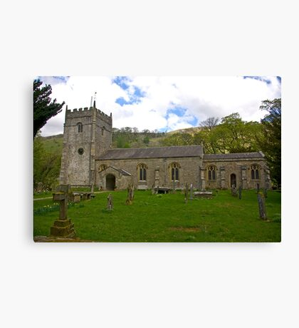 St Oswald's Church - Arncliffe Canvas Print