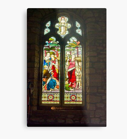 Window #1 - St Oswald's Church - Arncliffe Metal Print