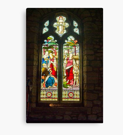 Window #1 - St Oswald's Church - Arncliffe Canvas Print